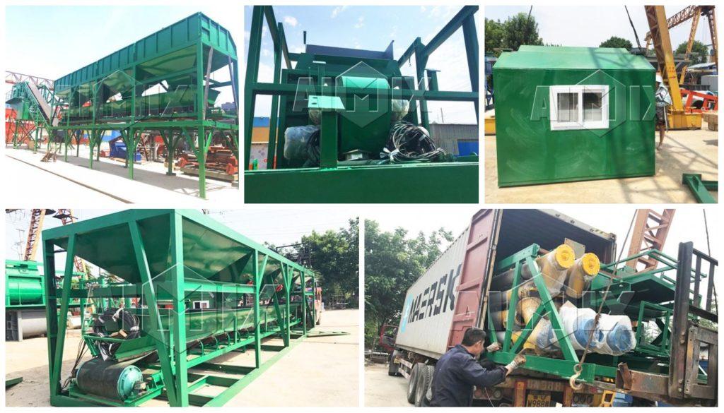 aimix AJY-50 mobile concrete batching plant Philippines