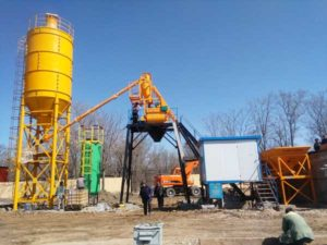 HZS25 mini concrete batching plant for sale