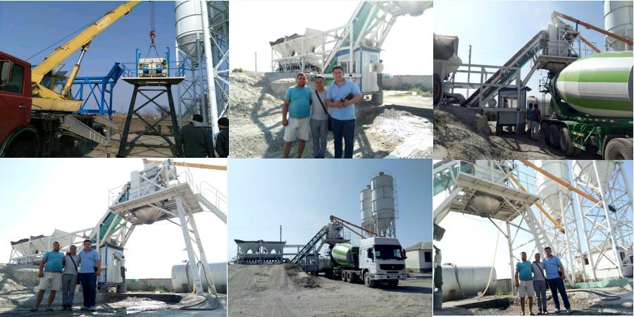 AJY-35 Ang mobile mini concrete batching plant ay ipinadala sa Pilipinas
