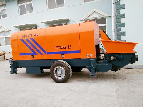 HBT80 kongkreto pump trailer