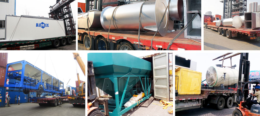 aimix asphalt mixing plant sent to many countries
