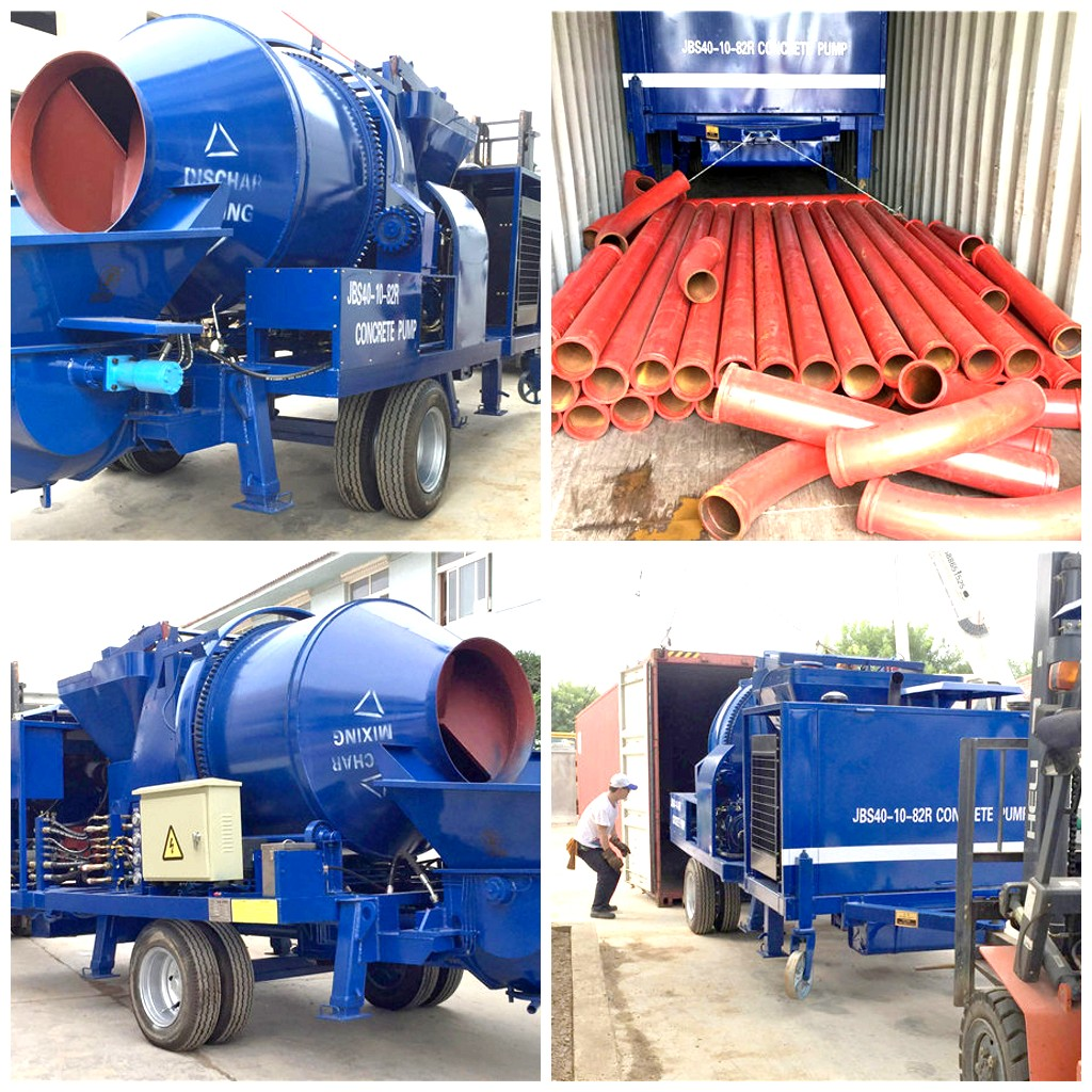 JBS40 diesel concrete pump to Fiji
