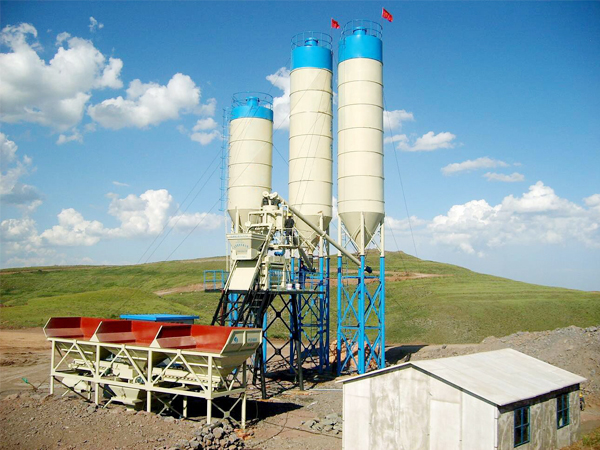 concrete batch mix plant machine