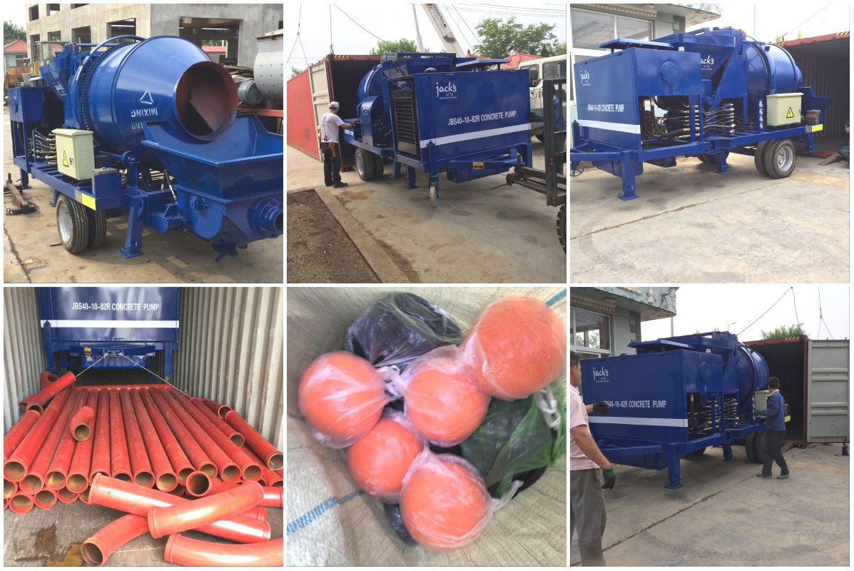 ABJZ40C concrete pump sent to Fiji