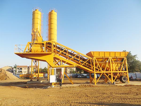 YHZS35 concrete batching plant