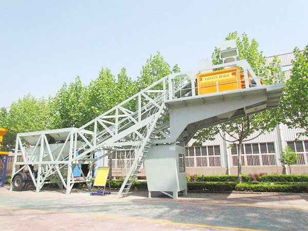 mobile concrete mixing plant machine