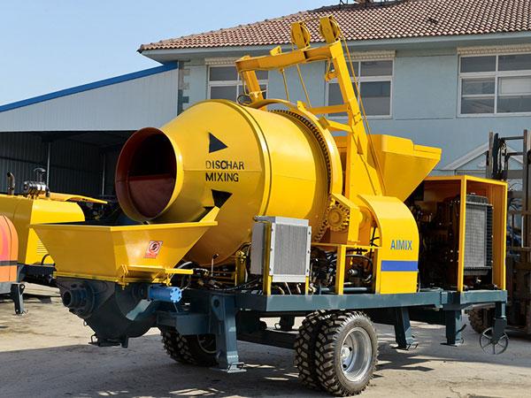 JB40R concrete mixer pump mobile