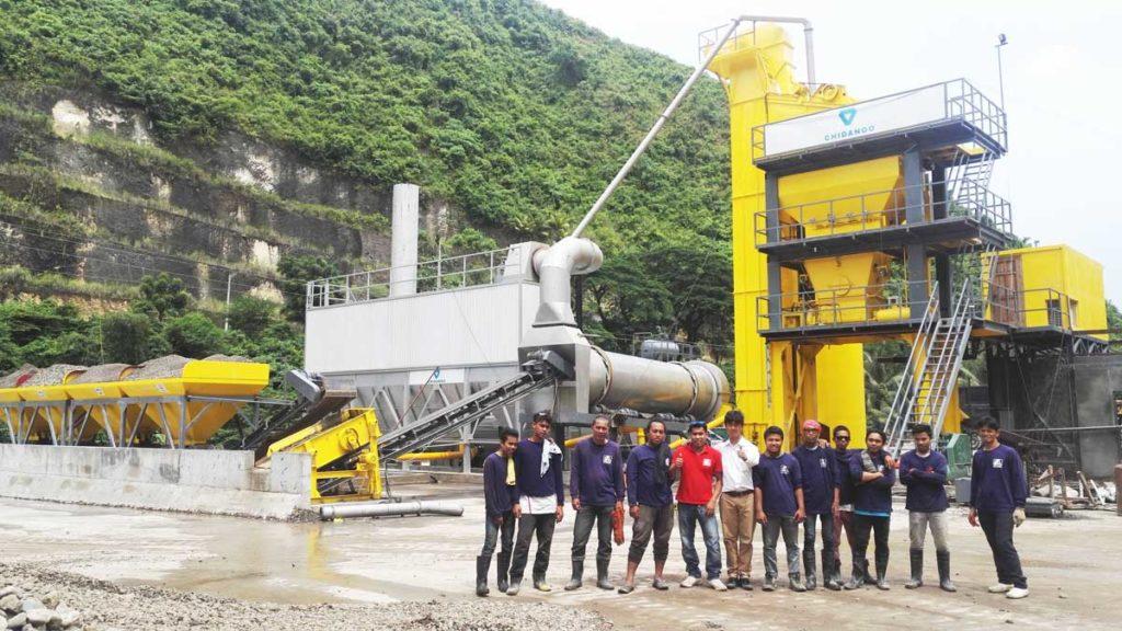 ALYQ120 mobile hot mix asphalt plant