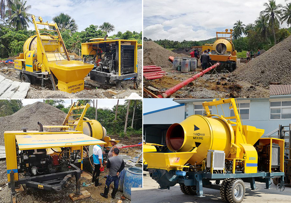 aimix-JB40R-ready-mix-concrte-pump-working-site-in-Philippines