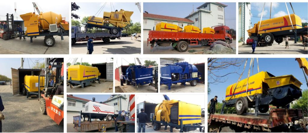 aimix mobile concrete pumps delivery to many countries