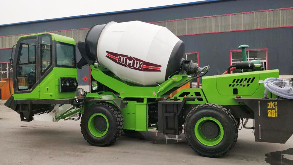 3.2cub self loading concrete mixer