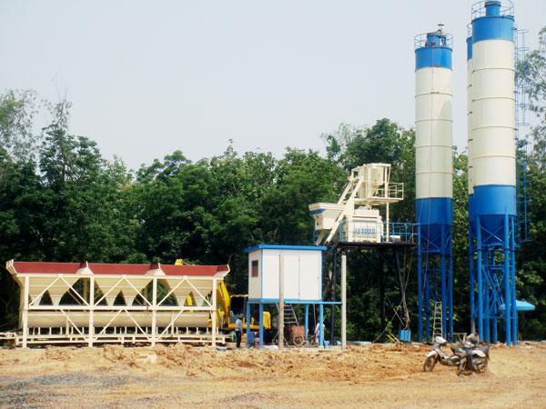 HZS75 concrete plant