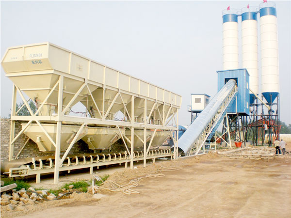 HZS90 concrete batch plant