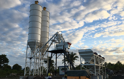 Aimix AJ-50 Concrete Batching Plant In Legazpi