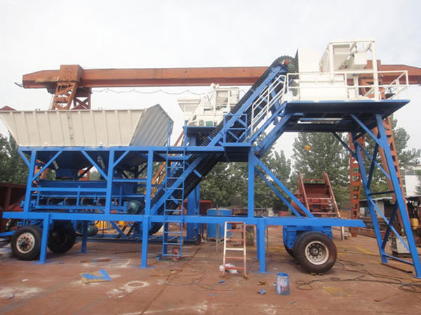 YHZS25 mobile ready mix plant