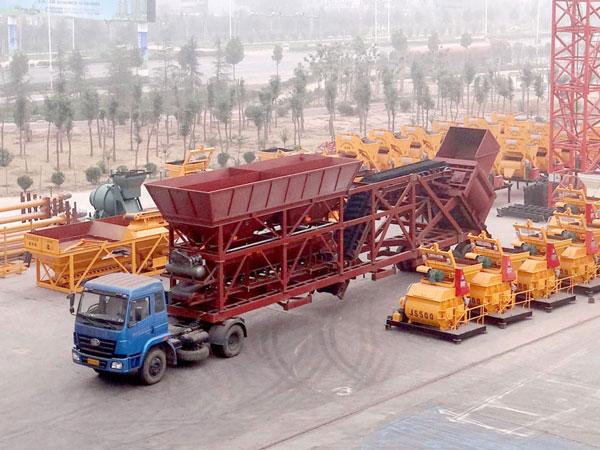 YHZS75 mobile concrete plant