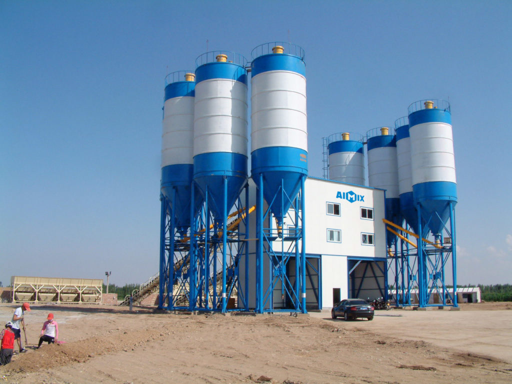 hzs240 stationary concrete plant