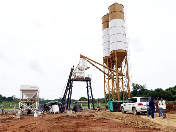 hzs35 stationary concrete plant
