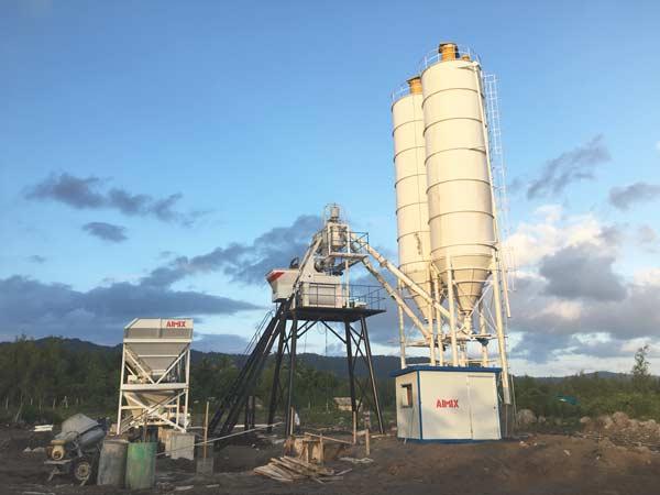 hzs50 concrete batch mix plant