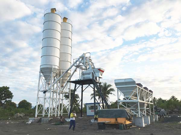AJ-50 stationary concrete batching plant