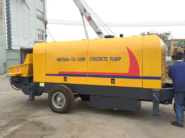 concrete trailer pump machine