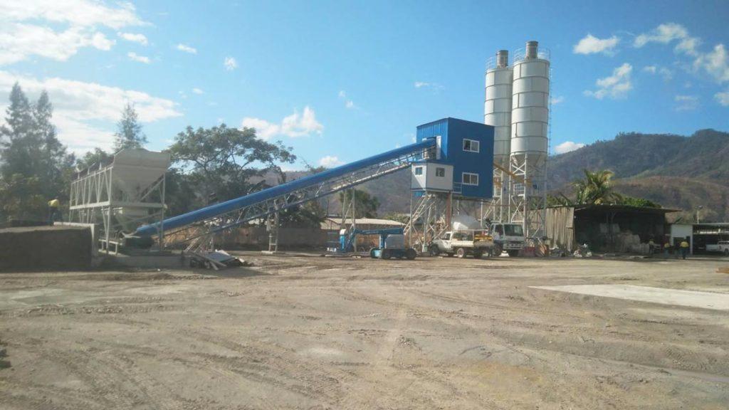 HZS60 stationary concrete plant