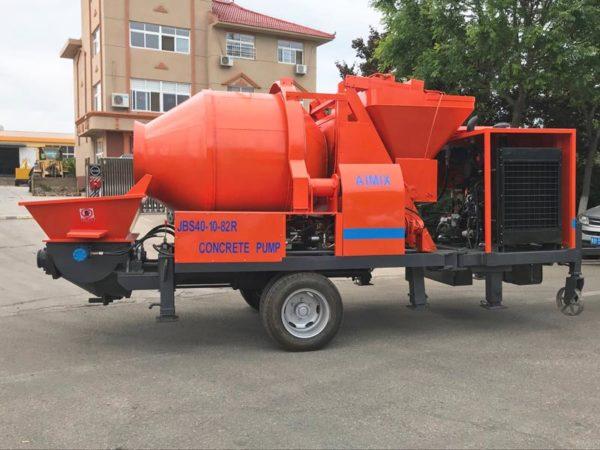 ABJZ40C concrete mixer and pump