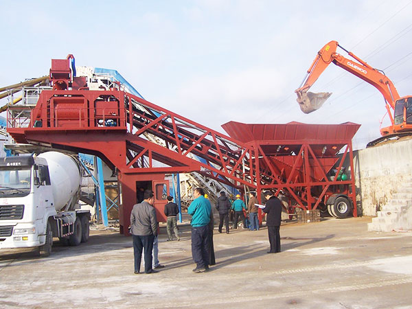 AJY-50 small mobile concrete plant