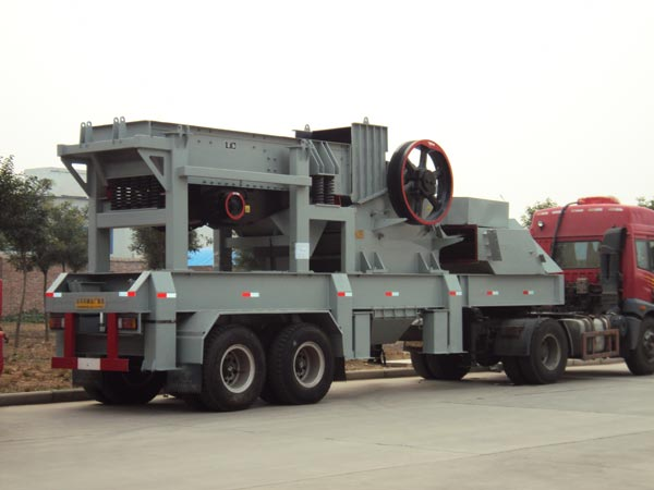 mobile jaw crusher type plant