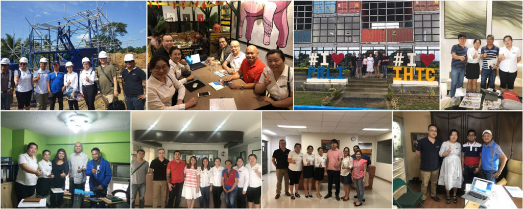 our sales team visits our customers in Philippines