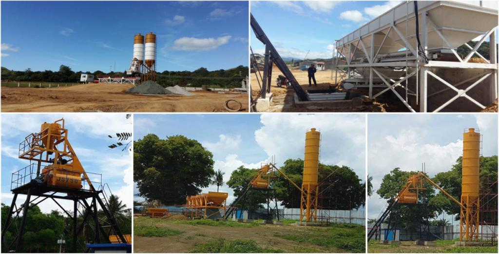 AimixHZS35 automatic concrete plant in philippines