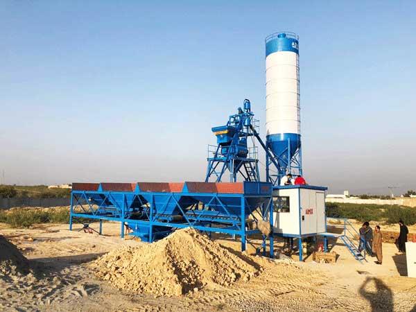 AJ-25 Semi-automatic type concrete batching plant