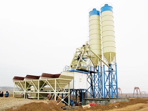 HZS75 automatic concrete batching plant