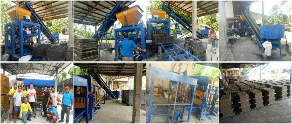 QT4-15 automatic solid block machine in Manila, Philipines