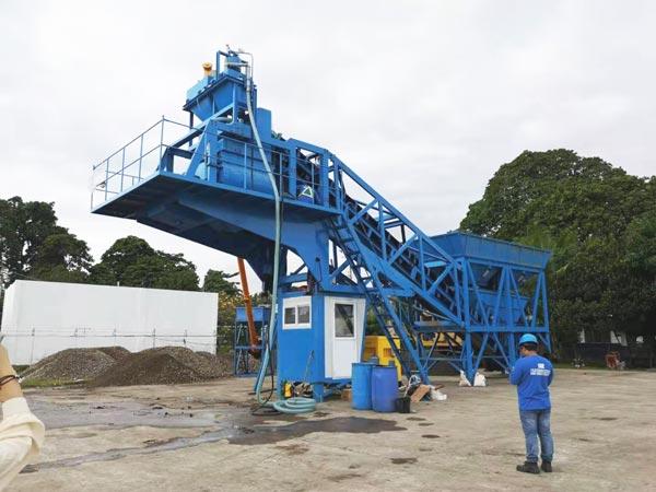 YHZS35 mobile batch plant