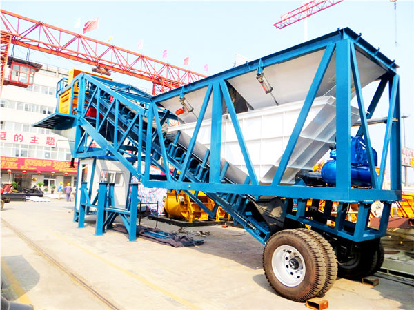 AJY-50 mobile concrete batch plant
