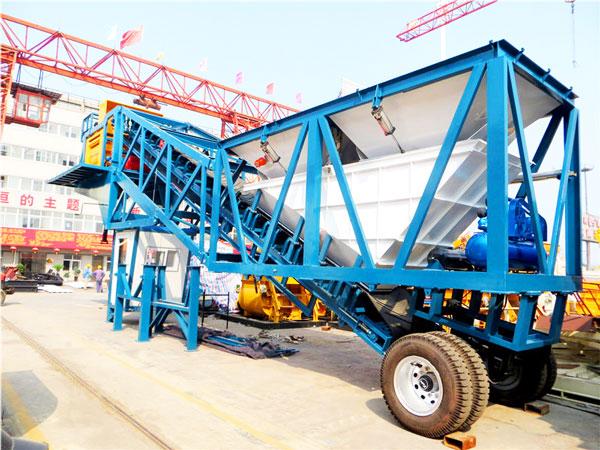 YHZS50 mobile concrete batch plant