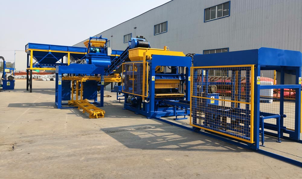 a complete cement block production line