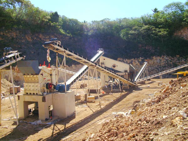aggregate crushing plant for sale in construction site