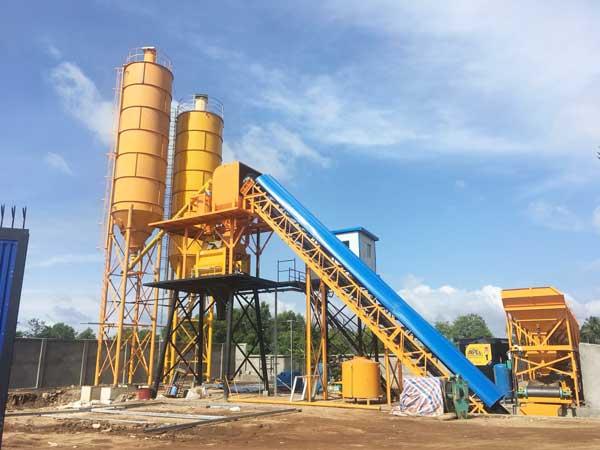 hzs60 automatic concrete mixing plant