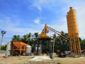 HZS35 cement mixing plant