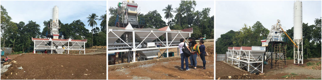 AJ-50 small concrete batch plant works in philippines