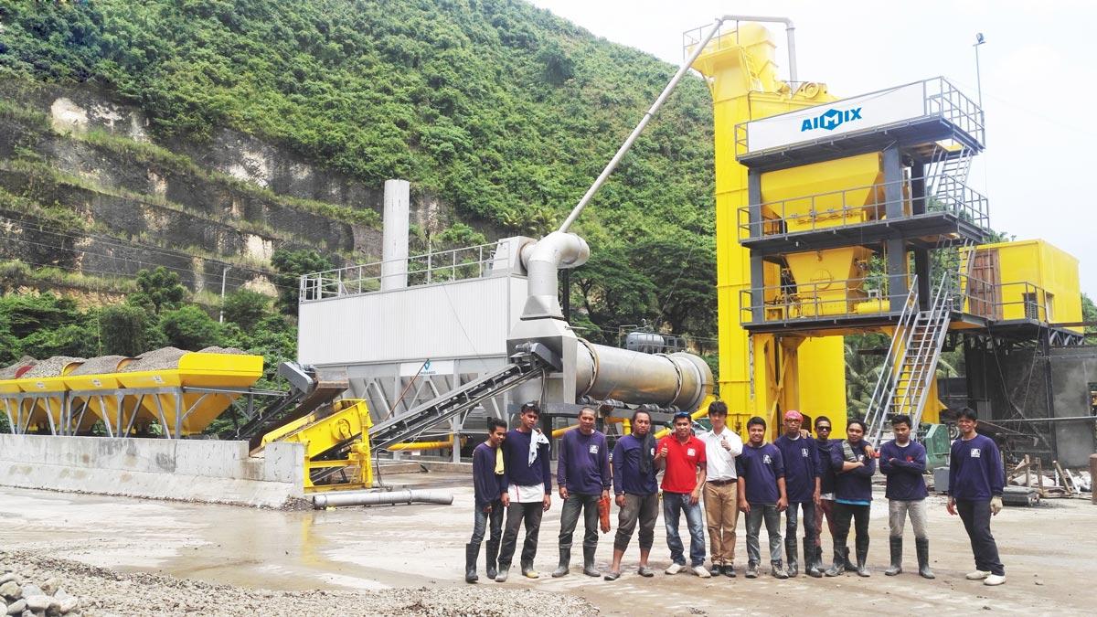 YLB1200 mini asphalt plant works in Philippines