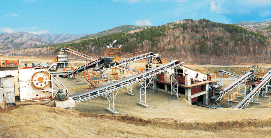 a complete stone crusher production line