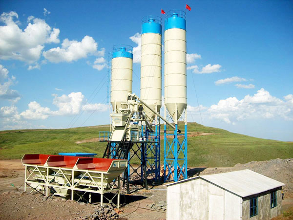 AJ-50 automatic concrete batching plant