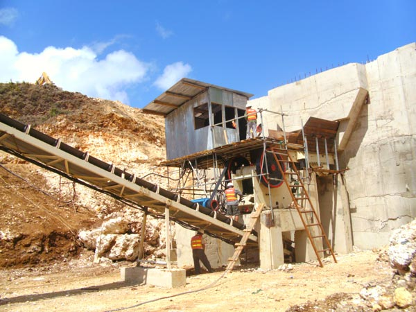 stone crushing plant machine