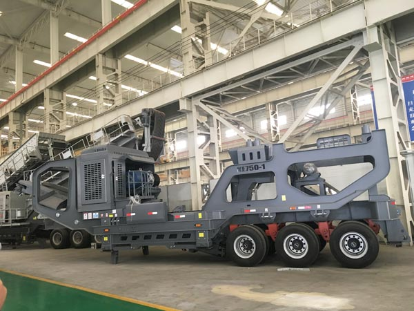 tyred type stone crusher plant for sale