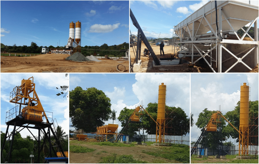 AJ-35 concrete plant in manila, philippines