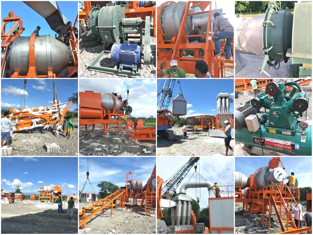 install the QLB60 mobile asphalt plant in Philippines