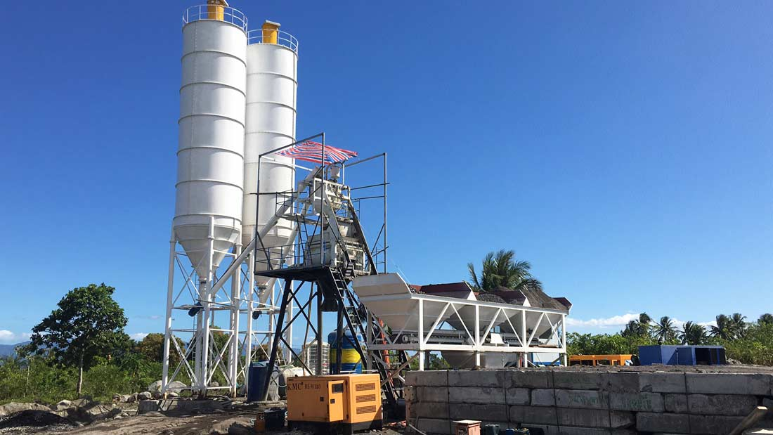 AJ-50 concrete batch plant for sale in Philippines